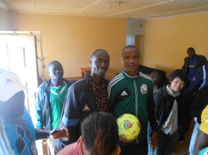 Zambia's best referee paying a courtesy call to our organisation