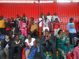 children of friends of the street children outing with the Director of the organisation Mr Christopher Mulenga